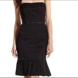 Whitehouse Blackmarket- Strapless Black Dress- Sz6